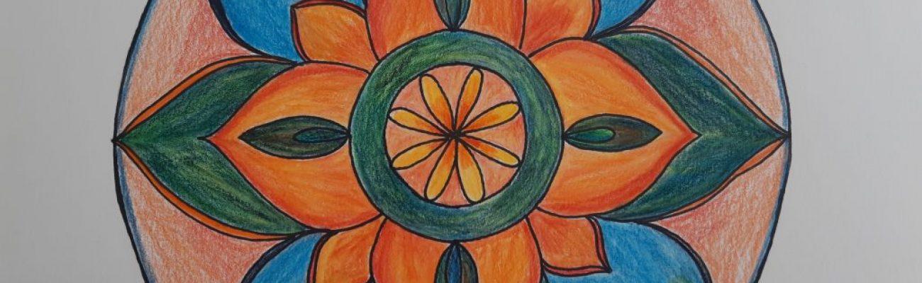színes virág mandala
