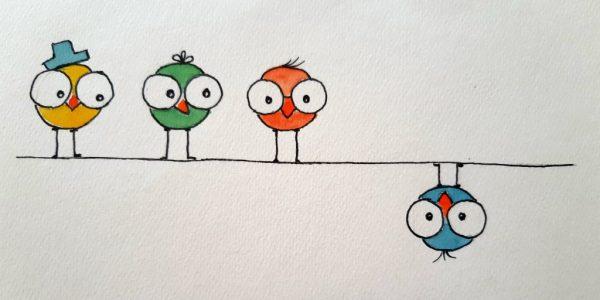 Rajzolj mókás madarat
