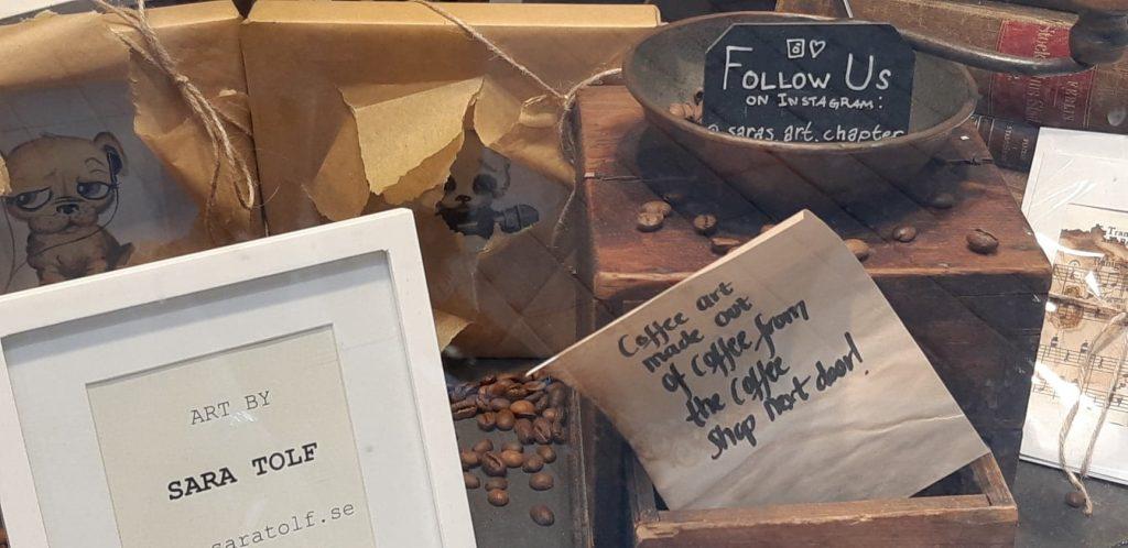 kávézó kirakat