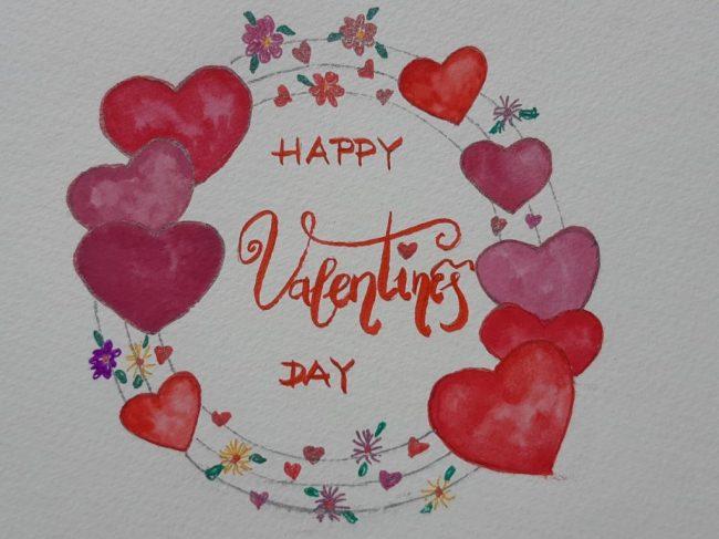 Valentin-napi képeslap