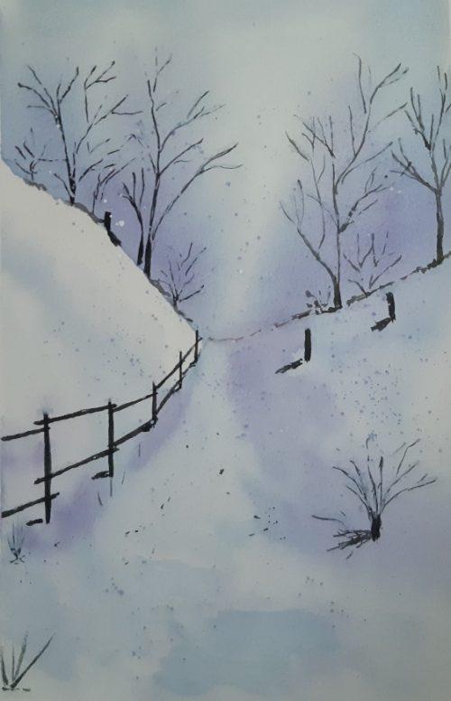 Téli táj festése ingyenes videó