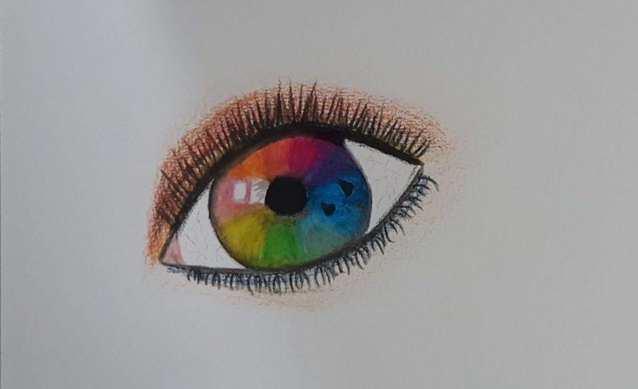 Sarki fény akvarellel festve
