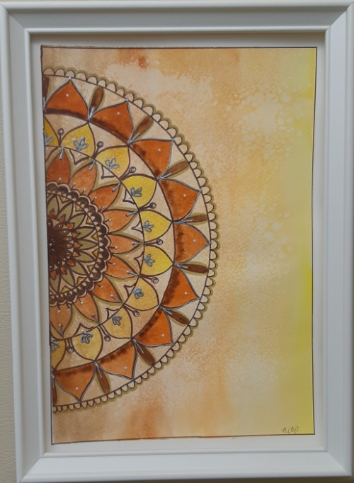 Akvarell mandala