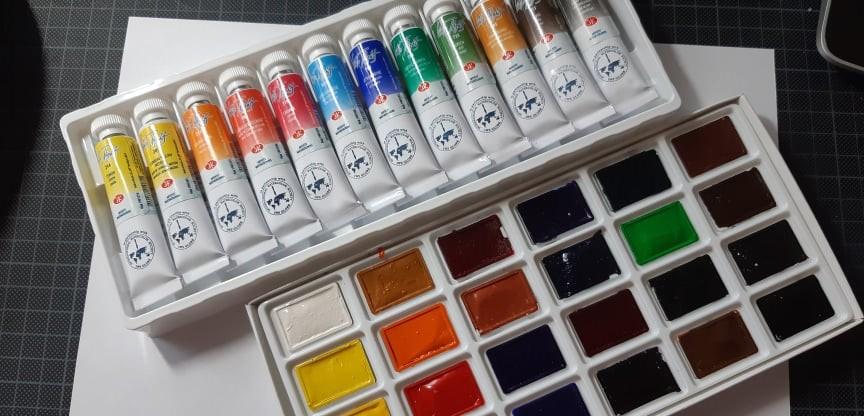 akvarell festék