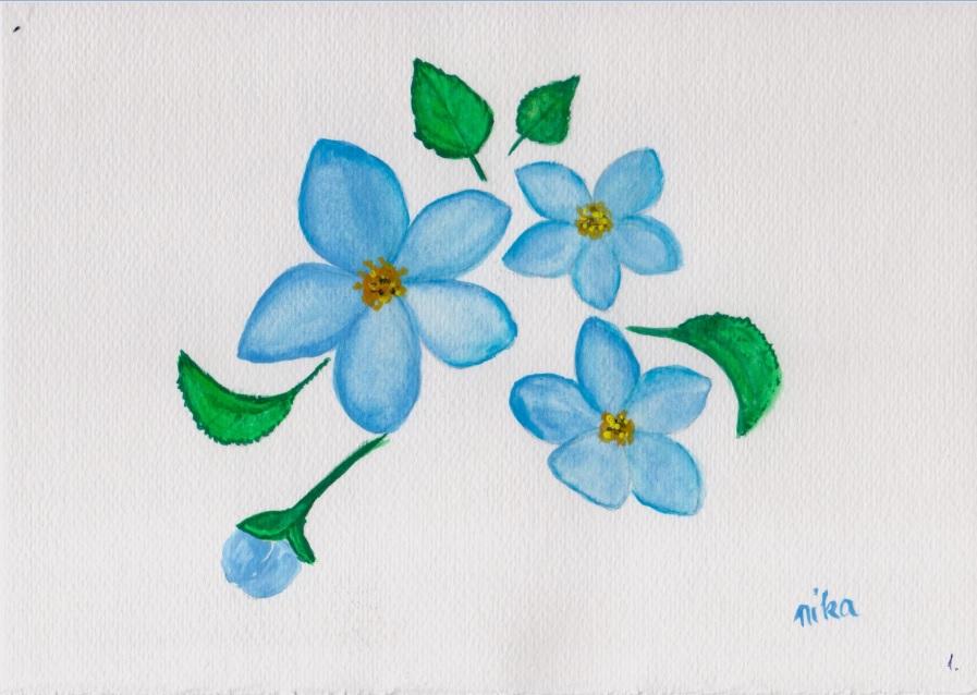 virágok gouache festő tanfolyam
