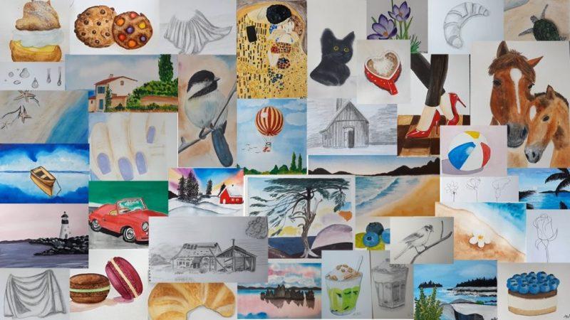 online akvarellfestő tanfolyam