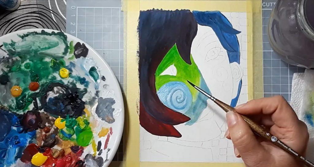 Picasso: A nő című képének festése online festő tanfolyam